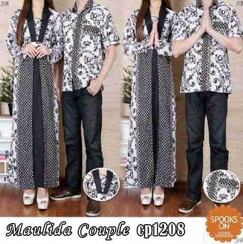 Gamis Couple Maulida Cp1208 Batik Busana Muslim Modern
