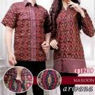 Batik Couple Arwana Maroon CP1209