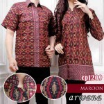 cp1209 batik couple arwana maroon