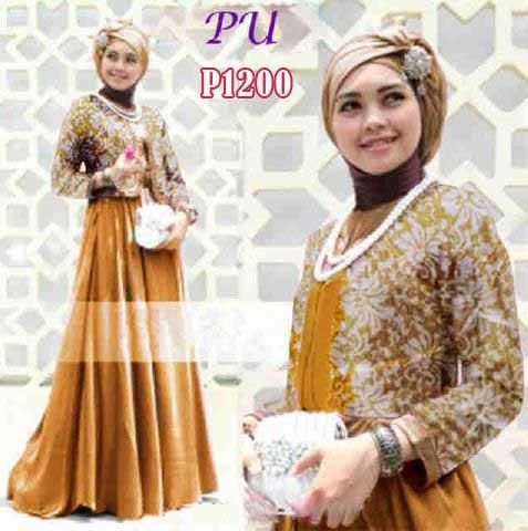 Gamis Remaja Rinia P1200 Songket Baju Muslim Modern