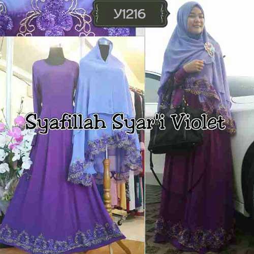 Baju Gamis Bergo Syafillah Premium Y1216 Busana Muslim Pesta