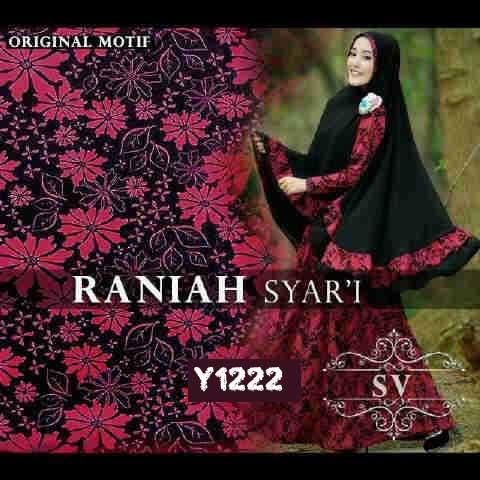 y1222 gamis syari raniah premium