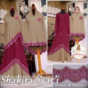 a001 Gamis Shakira syari maroon