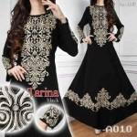 a010 baju pesta india tarina hitam