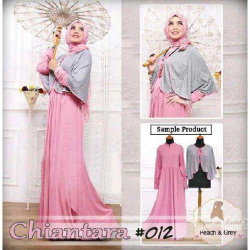 Gamis Modern Chiantara Maxi A012 Model Baju Muslim Terbaru