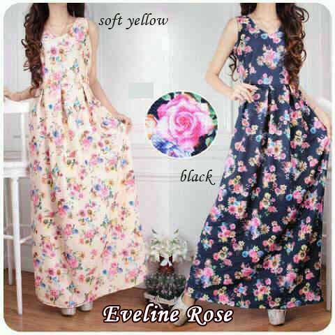 baju maxi evelina wedges