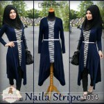 034 long cardi naila-stripe