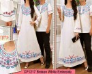 Gamis Couple White Bordir CP1217