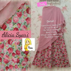 a077 gamis alicia dusty pink