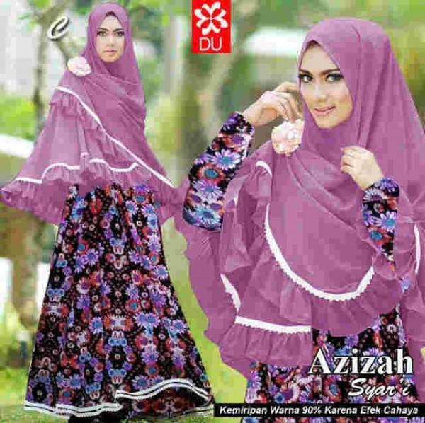 046 gamis syari Azizah ungu