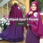 047 gamis aliyah syari purple