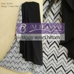 049 gamis syari ziggy hitam wolfis-crepe