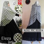 A056 gamis eleza houndstooth (real pic)