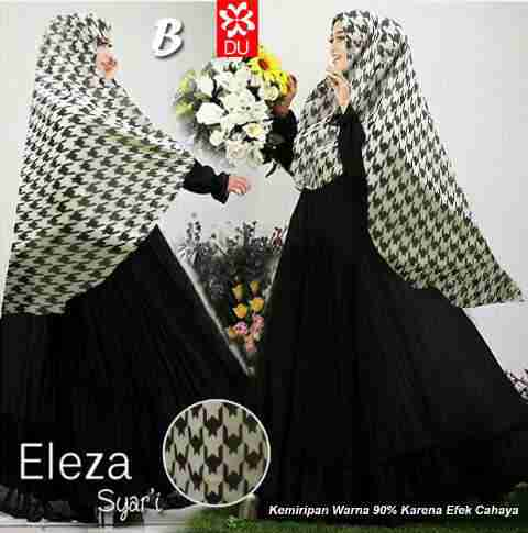 A056 gamis eleza houndstooth
