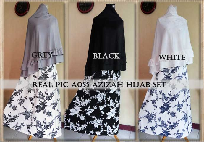 a055 gamis azizah jersey (real pic)