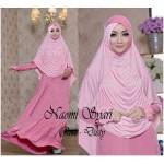 a057 gamis naomi hijab pink