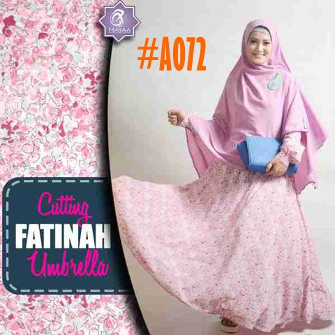 Gamis Wolfis Fatinah A072 Baju Muslim Model Payung Umbrella