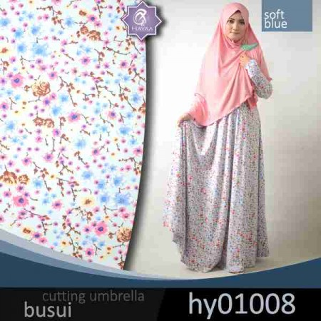 gamis jersey bunga sakura (umbrella)