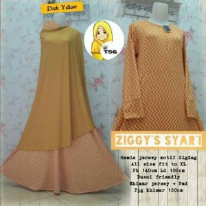 a078 gamis jersey ziggy kuning