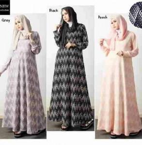 Gaun Wanita Delia A107 Model Baju Gamis Remaja Butik Jingga