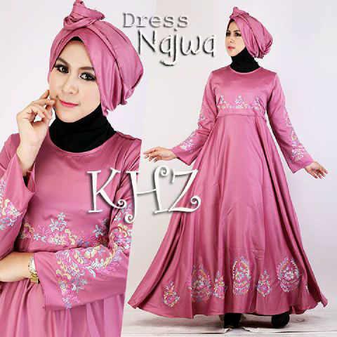 Baju Pesta Najwa Satin A121 Pink