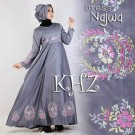 Baju Pesta Najwa Satin A121 Grey