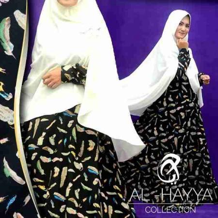 Gamis Modern A138 Wolfis Busana Muslim Umbrella Butik Jingga