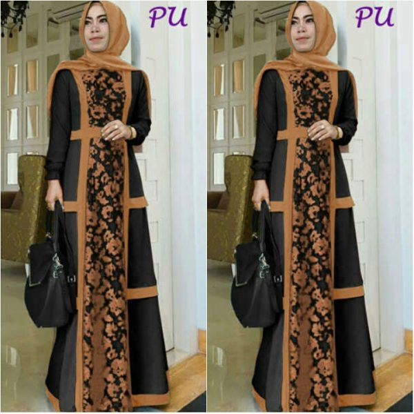 gambar gamis pesta modern murah