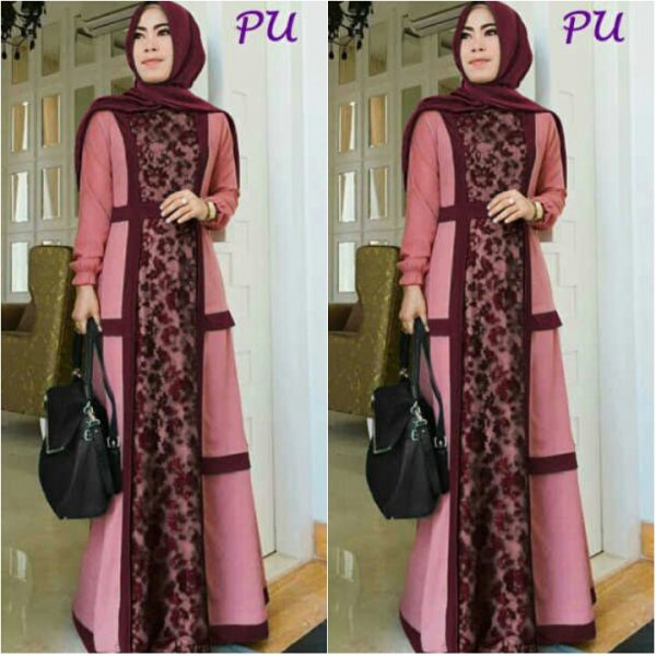 gamis pesta brokat remaja