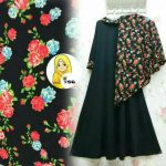 A166 gamis jersey andira hitam