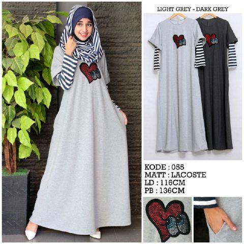 Gamis Remaja Modis Lacoste A171 Baju Muslim Modern