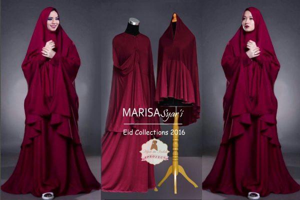 A175 Gamis Modern Marisa Merah Maron