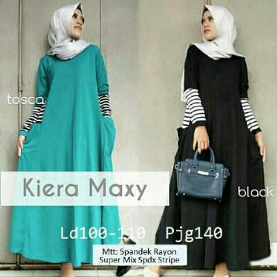 Gamis Remaja Kiera Maxi A177 Baju Muslim Modern