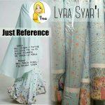 A179 Gamis Premium Lyra Syari Crepe Blue