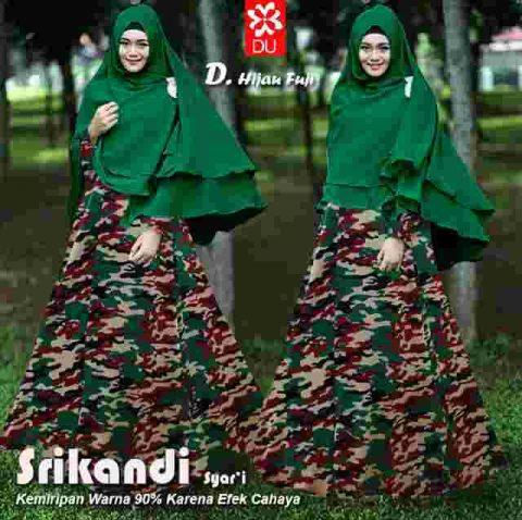 Gamis Modern Srikandi Army Model Baju Muslim Butik Jingga