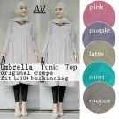 Blouse Umbrella Long Tunik