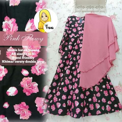 Gamis Cantik A146b Katun Jepang Baju Muslim Jumbo Syari
