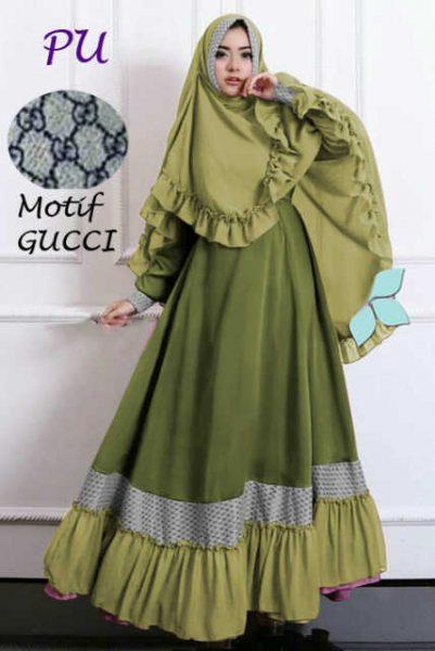A186 baju muslim syari hijau