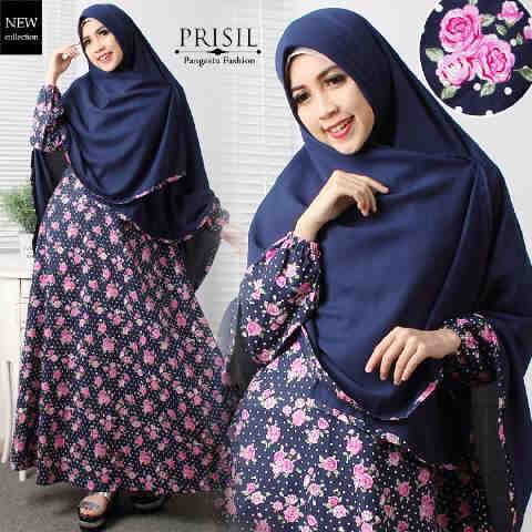 Gamis Premium A196b Katun Jepang Baju Muslim Modern
