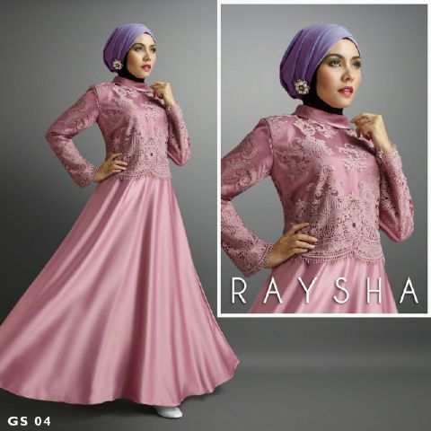 a209 Baju pesta satin Brokat Rasya By Shiraaz Dusty