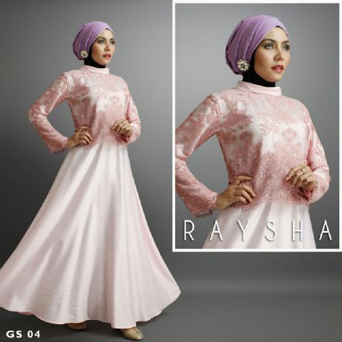 a209 Baju pesta satin Brokat Rasya By Shiraaz Salem