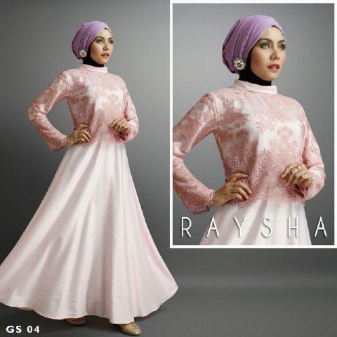 a209 Baju pesta satin Brokat Rasya By Shiraaz Salem