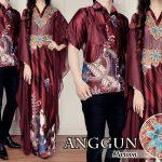 baju couple batik sutra cp204 maron