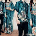 baju couple batik sutra cp204 tosca