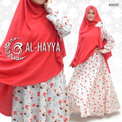 baju muslim cantik motif sakura