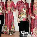 cp184 baju  muslim couple batik