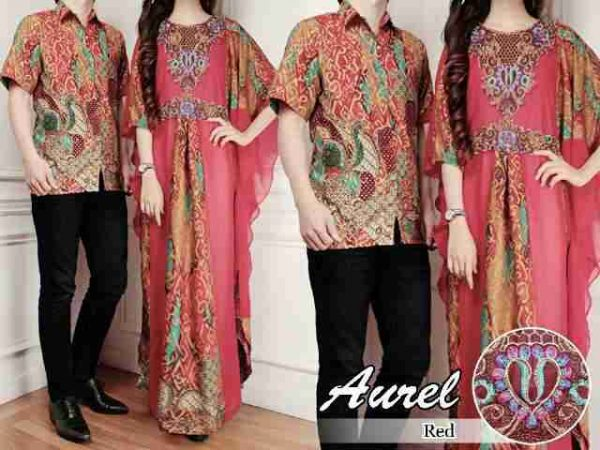 cp188 couple batik aurel merah