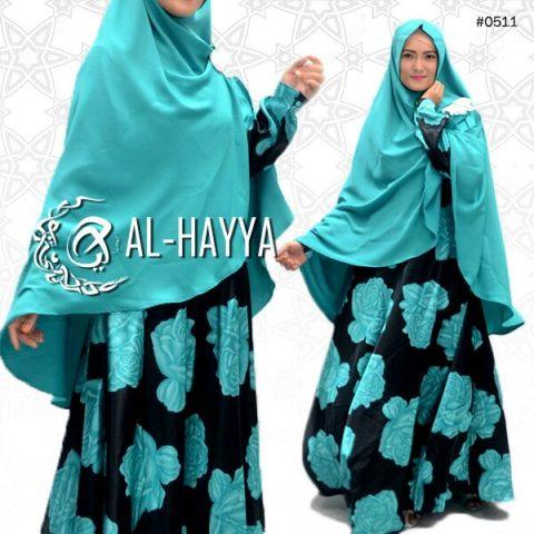 Gamis Cantik Big Rose A192 Satin - Baju Muslim Modern