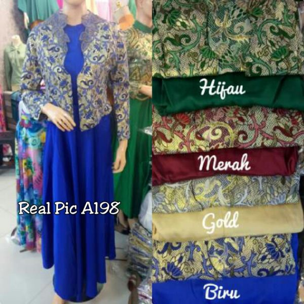 gamis satin songket ufairah a198 (real pic)