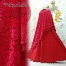 Gamis Syari Hasna Brokat A200b Merah